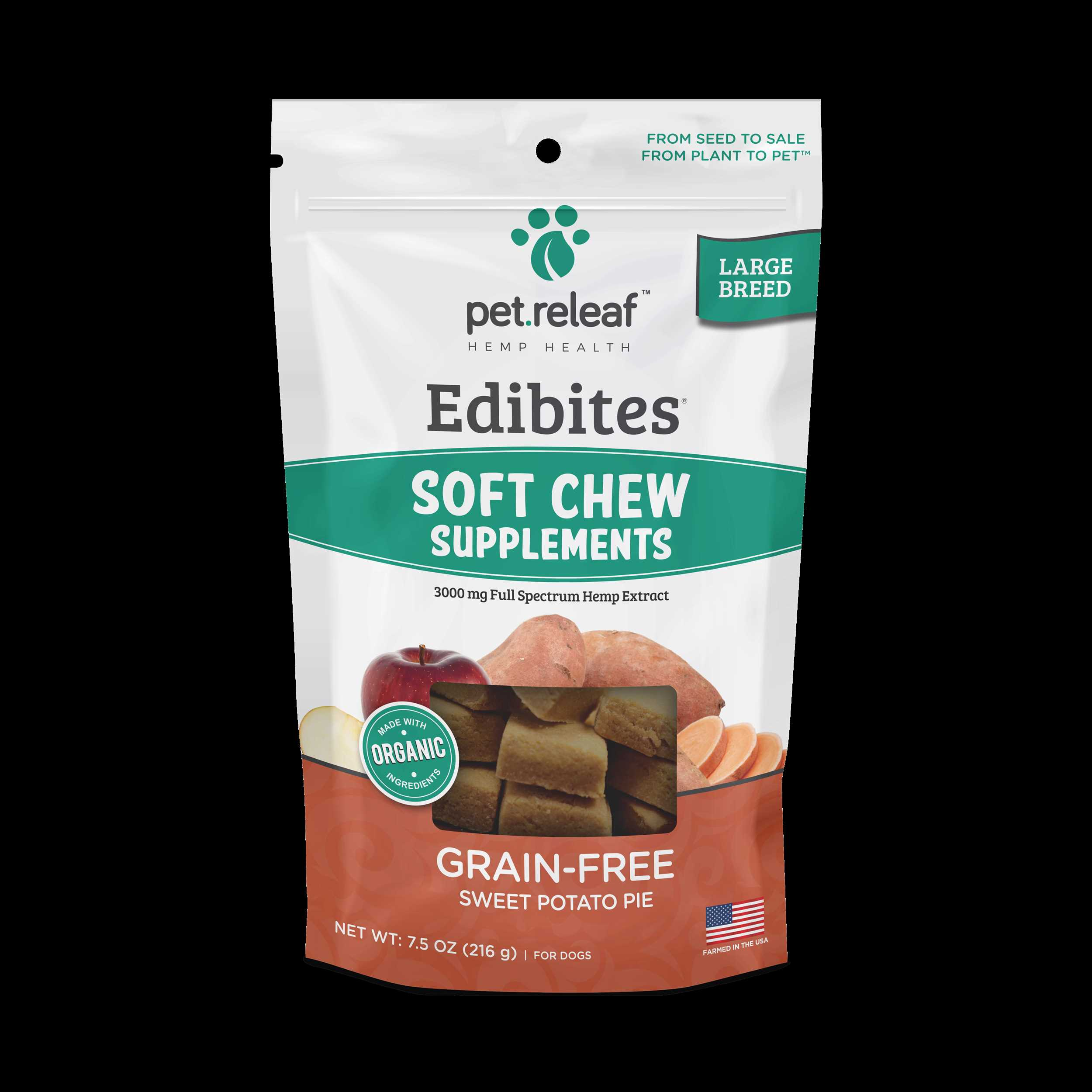 Sweet Potato 3000mg CBD LG Breed Soft Chews $30